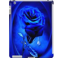 PHOTOSHOP BLUE ROSE VERSION TWO..TEARS OF A BLUE ROSE-PILLOW-JOURNAL,PICTURE-ECT.ECT.. iPad Case/Skin