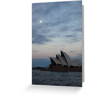 Opera by the Moon Greeting Card