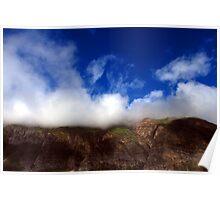 Hills & Blue Sky Poster