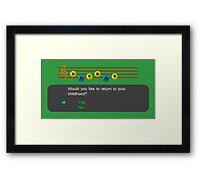 Childhood Gaming Framed Print
