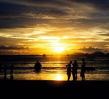 Railay Beach sunset, Krabi, Thailand by Martyn Baker   Martyn Baker Photography