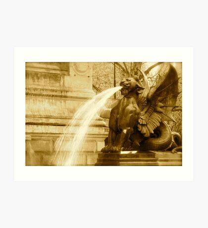 Fierce Fountain Art Print