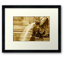 Fierce Fountain Framed Print
