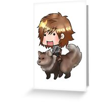 Bran Stark and Summer Greeting Card