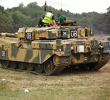 Chieftain MBT doing it's stuff by Andy Jordan