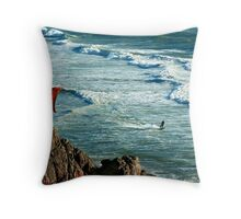 Chilly Surfing ;-) Throw Pillow