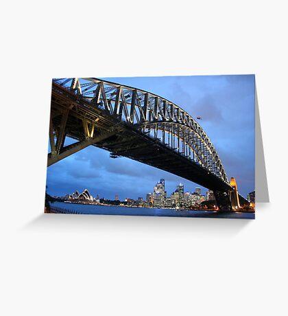Blue Night Sky - Sydney Harbour Bridge Greeting Card