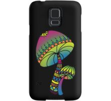 Shrooms - yellow/green/pink/blue Samsung Galaxy Case/Skin