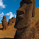 Imposing Heads, Easter Island by Martyn Baker   Martyn Baker Photography