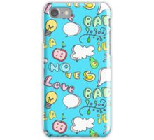 Funny Colorful Seamless Pattern iPhone Case/Skin