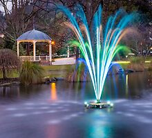 Fountain Light Show by Adrian Alford Photography