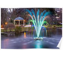 Fountain Light Show Poster