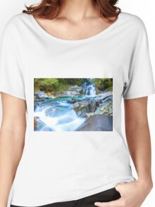 Waterfall in Fiordland National Park Women's Relaxed Fit T-Shirt