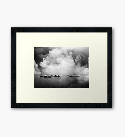 Silence before the rainstorm Framed Print