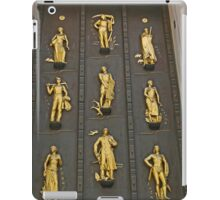 Door with the golden figures, New York iPad Case/Skin