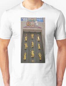Door with the golden figures, New York Unisex T-Shirt