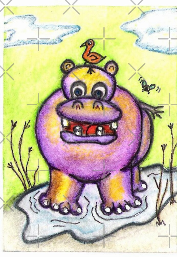 Leah Hippo and the Bird - an unlikely friendship by Vicki Noble