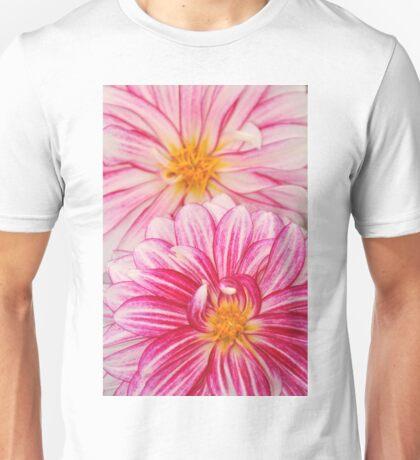 Pink dahlia flowers Unisex T-Shirt