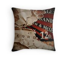 Telephone Pole Posters Throw Pillow