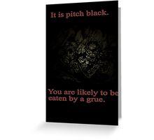 Zork Grue Greeting Card