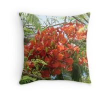 A little color in my sky. Throw Pillow