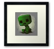 creeper minecraft Framed Print