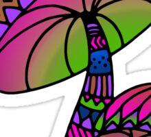 Shrooms - pink/blue/green/purple Sticker
