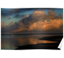 anderson inlet sunrise. victoria Poster