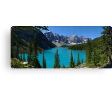 Moraine Lake, Valley of the Ten Peaks...a Gigapan panorama Canvas Print