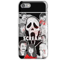 Scream character collage iPhone Case/Skin
