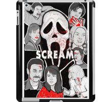 Scream character collage iPad Case/Skin