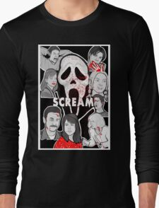 Scream character collage Long Sleeve T-Shirt