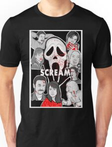 Scream character collage Unisex T-Shirt
