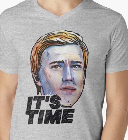 It's Time Mens V-Neck T-Shirt