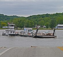 Illinois River Car Ferry, Campsville, Illinois, USA by Margaret  Hyde