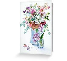 Phlox and Hydrangeas Greeting Card