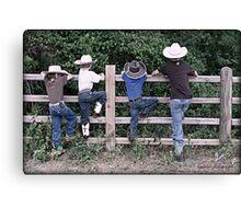 Little Cowboys Canvas Print