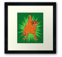 Screencheat Chicken Framed Print