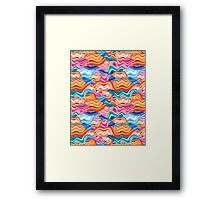abstract pattern wave Framed Print