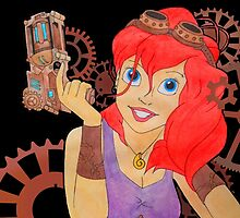 Steampunk Ariel - Edited by hartzelldesign