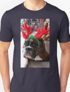 Reindeer This Year?...... Anything For That Cookie! - Boxer Dogs Series T-Shirt