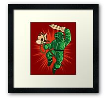 Screencheat Diver Framed Print