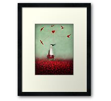 my heart is unravelling Framed Print