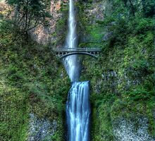 Multnomah Falls by Terence Russell