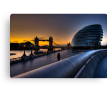 Southbank Sunrise: London, UK Canvas Print