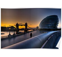 Southbank Sunrise: London, UK Poster