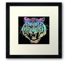 Rainbow Tiger Framed Print