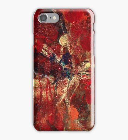 Freya - Sparkling Abstract Gilded Painting iPhone Case/Skin