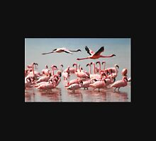Fly Past, Lesser Flamingos, Lake Nakuru, Kenya Unisex T-Shirt