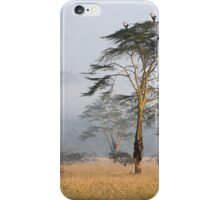 Morning Ritual in the Fog. Lake Nakuru, Kenya. iPhone Case/Skin
